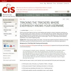 Tracking the Trackers: Where Everybody Knows Your Username | Stanford Center for Internet and Society