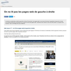 Eye tracking - Tests utilisateurs - Lecture web