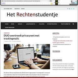 DUO overtreedt privacywet met trackingmails – Het Rechtenstudentje