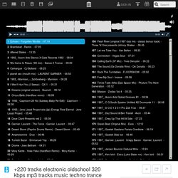 +220 tracks electronic oldschool 320 kbps mp3 tracks music techno trance house acid hard : 0rb3r