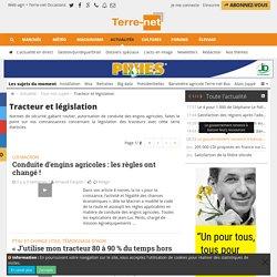 Tracteur et législation