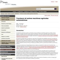 Tracteurs et autres machines agricoles automotrices