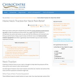 Home Neck Traction for Neck Pain Relief: ChiroCentre UK