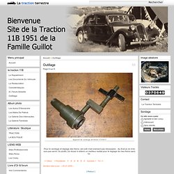 La Traction Terrestre - Outillage