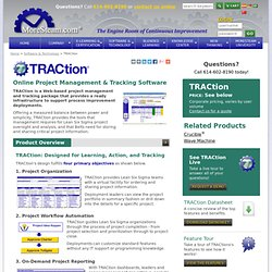 TRACtion Lean Six Sigma Project Tracking and Management