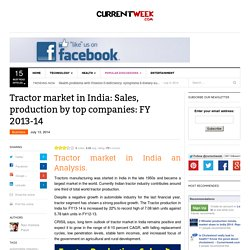 Tractor market in India: Sales, production by top companies FY 2013-14