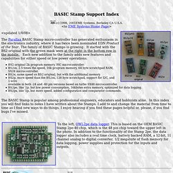 Tracy Allen's BASIC Stamp app-notes index