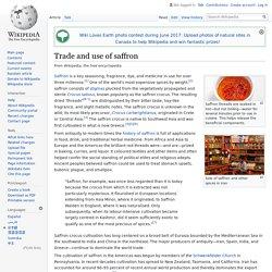 WIKIPEDIA - Trade and use of saffron.
