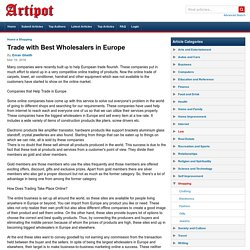 Trade with Best Wholesalers in Europe