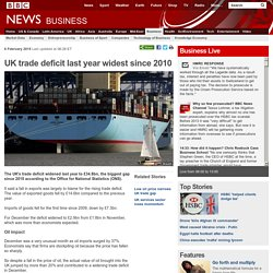 UK trade deficit last year widest since 2010