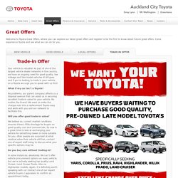 Trade-in Offer - Auckland City Toyota