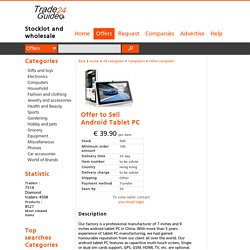 Tradeguide24.com - Offer to Sell Android Tablet PC