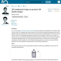 2D trademark helps to protect 3D bottle shape - Newsletters