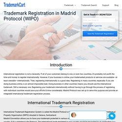 Trademark Registration in Madrid Protocol (WIPO)