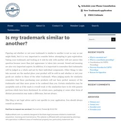 Is my trademark similar to another? – My Brand Mark Blog