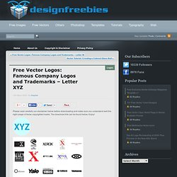 Free Vector Logos: Famous Company Logos and Trademarks – Letter XYZ