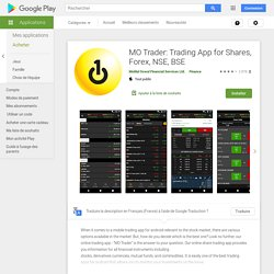 MO Trader: Trading App for Shares, Forex, NSE, BSE – Applications sur GooglePlay