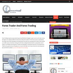 Creating Success In Forex Trading