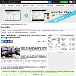 Bourse de Paris : Les traders se préparent à une nuit agitée dimanche