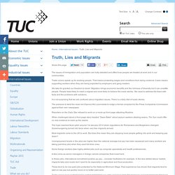 Trades Union Congress - Truth, Lies and Migrants