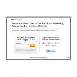 Sales - Tradeshow Hero: How to Use Email and Marketing Automation for Live-Event Success