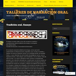 TALLERES DE NARRACIÓN ORAL