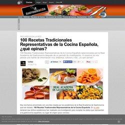 100 Recetas Tradicionales Representativas de la Cocina Española, ¿qué opinas?