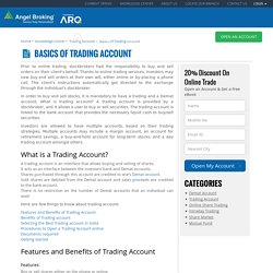 What is Trading Account:Basics of Trading Account - Angel Broking