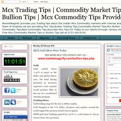 MCX Gold Silver Price Today
