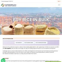 Rice Online Trading in Bulk enbales at Tradologie