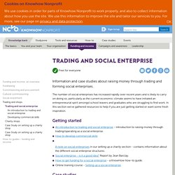Trading and social enterprise — Knowhow Nonprofit