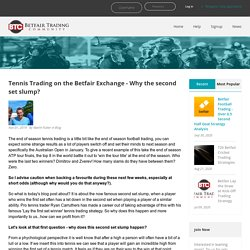 Tennis Trading on the Betfair Exchange - Why the second set slump?