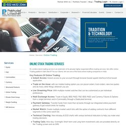 Online Trading Companies in Mumbai- Plindia