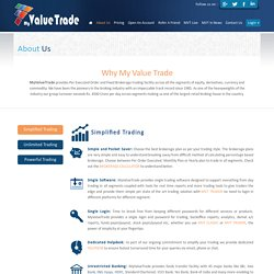 Online Trading Services, Online Stock Trading in India- My Value Trade