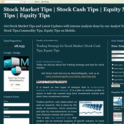 Trading Strategy for Stock Market