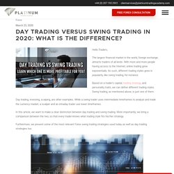 Day Trading Vs Swing Trading Explained and how to make profits!