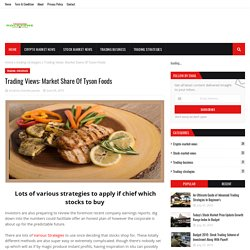 Market Share Of Tyson Foods