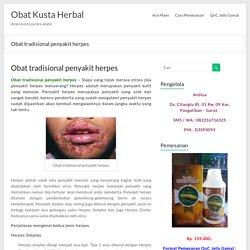 Obat tradisional penyakit herpes