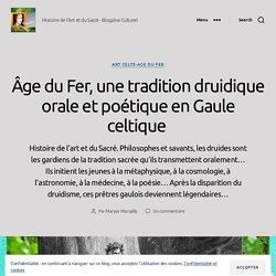 Âge du Fer, une tradition druidique orale et poétique en Gaule celtique – BLOGOSTELLE Histoire de l'Art et du Sacré