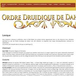Lexique du site de l'ODD - Tradition druidique et polythéisme