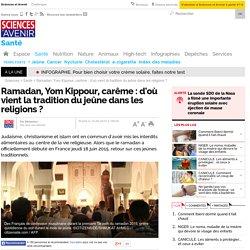 Ramadan, Yom Kippour, carême : d'où vient la tradition du jeûne dans les religions ?