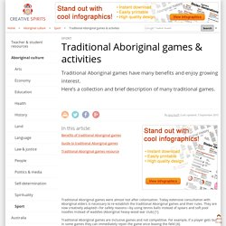 Traditional Aboriginal games & activities