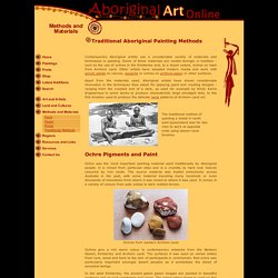 Traditional Aboriginal Painting Methods - Aboriginal Art Online