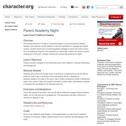 Parent Academy Night (Parents)