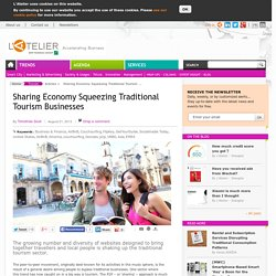 Sharing Economy Squeezing Traditional Tourism Businesses