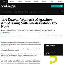 Traditional Women's Missing an Entire Generation of Readers