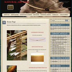 NA- Traditional Archery Portal-Home of the Bow Show, Forums, Articles and more, Primitive Archery, Recurve, Longbow Natural Archer
