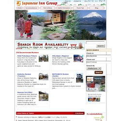 Japanese Inn Group Home Page | Traditional Ryokans, Hostels, Hotels, Backpackers, B&B, and Guest Houses in Japan