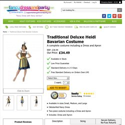 Traditional Deluxe Heidi Bavarian Costume - Fancy Dress and Party
