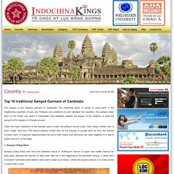 Top 10 traditional Sampot Garment of Cambodia - Indochina Book Of Records